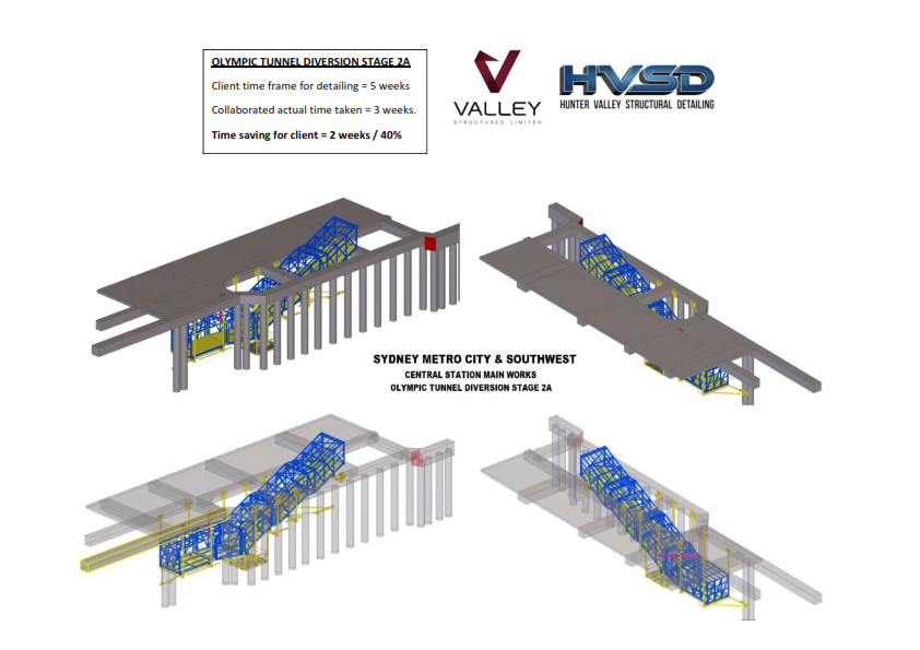 Hunter Valley Structural Detailing - Olymic Tunnel