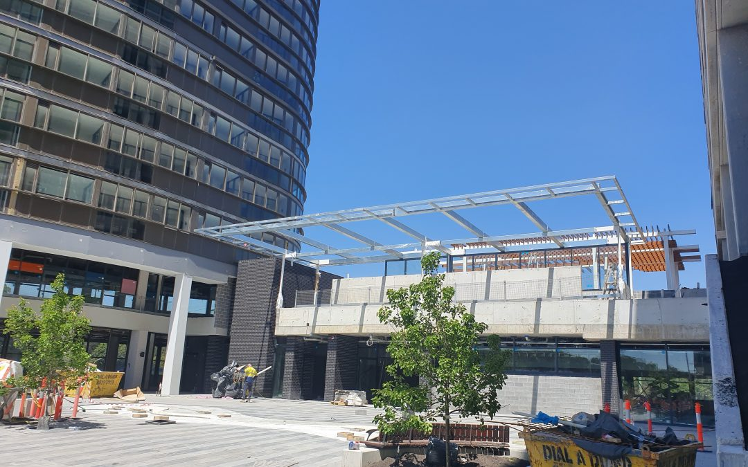 Steel Detailing & Drafting – Community Centre Awning – Lachlan's Line, Sydney